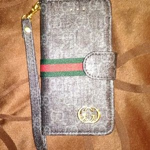Gucci iPhone x/10 wallet case nwt
